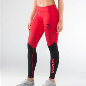 Virus Eco21.5 Red/Black Compression Tech Pants